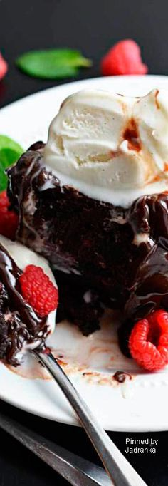 Fudgy Raspberry Dark Chocolate Brownies