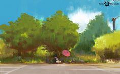 Path of Miranda #1 - Toki resting under tree by Atey Ghailan/snatti89 on deviantArt