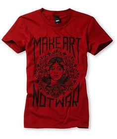 3b763a2b982b Obey Make Art Not War Berry T-Shirt