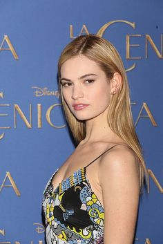 Lily James at the Cinderella Photocall in Mexico City on March 6th, 2015.
