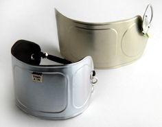 Cufflinks made with canned tuna