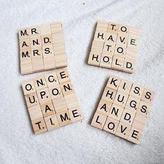Marriage Scrabble Coasters