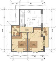 etaj cu doua dormitoare