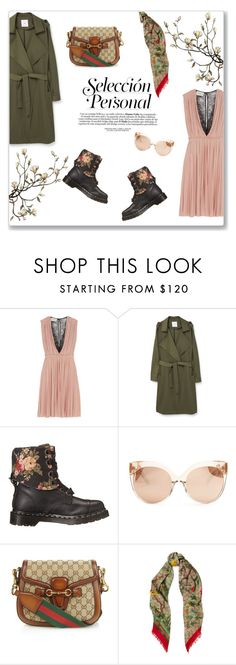 """""""Who run the world?"""" by living-on-the-catwalk ❤ liked on Polyvore featuring Gucci, MANGO, Dr. Martens and Linda Farrow"""