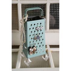 Cheese Grater Jewelry Holder ($22) found on Polyvore