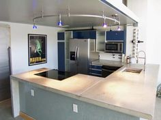Kitchen Modern Kitchen Concept White Kitchen Concrete Countertops Kitchen Lamp Decor Painting On The Wall White Kitchen Concept Concrete Countertops General Guide: Pros and Cons