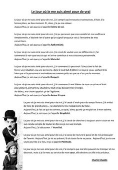 Le-jour-ou-je-me-suis-aime-pour-de-vrai. Charlie Chaplin, Positive Mind, Positive Attitude, Positive Quotes, Words Quotes, Me Quotes, Sayings, The Jacksons, French Quotes