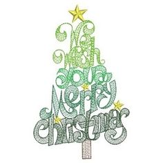 Oh Christmas Tree 1 - 3 Sizes! | What's New | Machine Embroidery Designs | SWAKembroidery.com Ace Points Embroidery