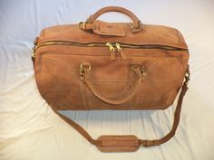 MULHOLLAND BROTHERS VINTAGE LEATHER DUFFLE CARRY ON WEEKENDER GYM CLASSIC BAG  #MULHOLLANDBROTHERS #DuffleGymBag