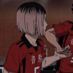 Kenma Kozume, Haikyuu Nekoma, Kuroken, Haikyuu Anime, Oikawa, Friend Anime, Anime Best Friends, Matching Pfp, Matching Icons