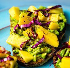 Sweet Mango Avocado Toast.