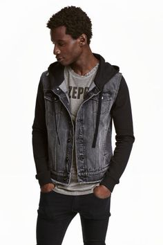 Denim jacket with a hood | H&M