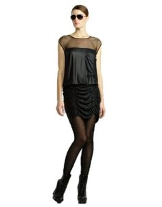 BCBGMAXAZRIA BCBG BLACK DRAPED RUCHED COCKTAIL DRESS SIZE 8 « Impulse Clothes