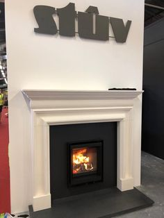 Stûv  6 - 46x55 @ Hearth&Home Exhibition #stuv #stûv #fireplace #woodburning #fair #hearthandhome #architecture #architecture #design #award Decor, Concrete, Home, Kitchen Fireplace, Oak, Fireplace, Bedroom