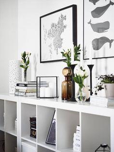 Two Ikea 'Kallax/Expedit' bookshelves as sideboard