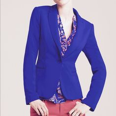 Lilly Pulitzer Leighton Blazer Put the punch in power dressing with this Lilly Pulitzer blazer. A bold hie accentuates sharp lines and slim tailoring for a modern approach to a classic careerist essential. Shawl collar, long sleeves, sing-button frot closure. Two front slit pocket with printed lining, back vent. NWOT Lilly Pulitzer Jackets & Coats Blazers