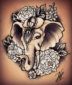 Elephant tattoo design by Marjorianne #tattooflash #line #linework #lineworktattoo #blackline #blackwork #blackworkers #instatattoo #blacktattoo #flower #flowertattoo #neotraditional #neotrad #neotradtattoo #ink #inked #girlytattoo #girlytattoodesign #blxck #blxckink #blxcktattoo #btattooing #peonytattoo #blackworkersubmission #blacktattooing #igersnantes #etching #etchingtattoo #elepha ttattoo #darkartists