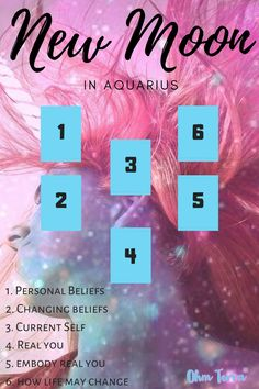 New Moon in Aquarius 2020 and a tarot spread for the new moon to help you understand the changing energies.