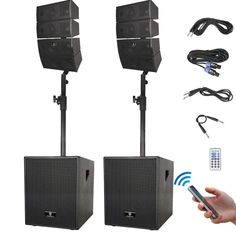★ WIRELESS CONNECTION & OPERATION:Instantly pair with iPhone,iPod, iPad, android devices, etc with line of sight of up to 66 feet. Use side handles to lift and transport the subwoofers conveniently. 12 Inch Subwoofer, Passive Subwoofer, Passive Speaker, Subwoofer Speaker, Best Dj Speakers, Best Powered Speakers, Sound Speaker, Speaker Plans, Speaker System