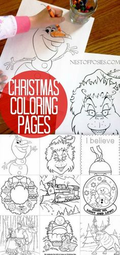 Christmas (in JULY) Coloring Pages for Kids - why not?  Something fun & different to entertain them!
