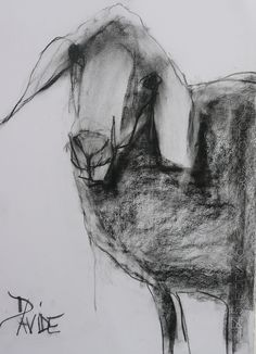 'Rambo' original Charcoal by Valerie Davide Mounted £225