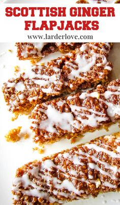 These super easy Scottish ginger flapjacks are a one pan wonder and taste great with a ciup of tea. #flapjacks #ginger #gingercookies #Scottishbaking #cakesandbakes #larderlove Ham And Egg Sandwich, Egg Sandwiches, Oatmeal Porridge, Ham And Eggs, Ginger Cookies, Golden Syrup, My Cookbook, Baking Tins, Larder