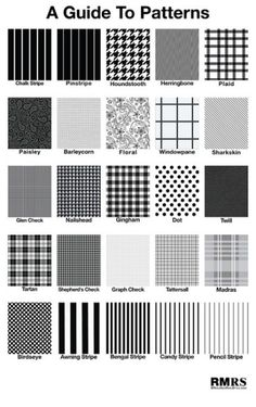 As one might expect, patterns are a bit more difficult than solid colors, and require more thought in their selection. As a general rule, patterns are less formal than solid colors, and so should be reserved for more relaxed occasions.