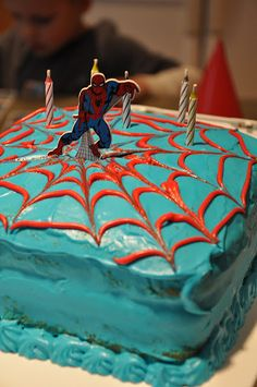 SpiderMan Cake Just cakes Pinterest Man cake and Cake