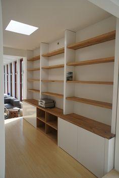 Eiken houten boekenkast