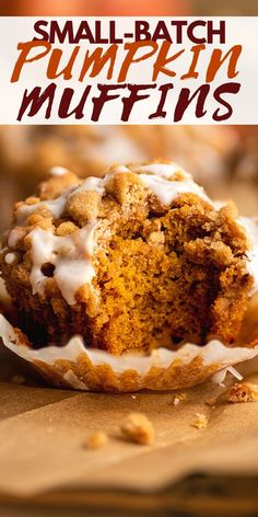 Best Pumpkin Muffins, Pumpkin Cookies, Pumpkin Dessert, Pumpkin Recipes, Fall Recipes, Diet Recipes, Muffin Tin Recipes, Cupcake Recipes, Fairy Cakes
