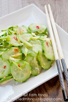 Spicy Korean Cucumber Salad