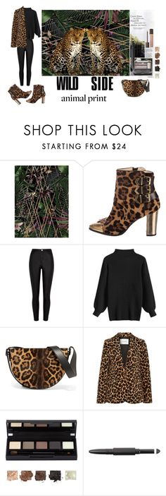 """""""Leopard Prints"""" by max-chance ❤ liked on Polyvore featuring Visionnaire, Christian Louboutin, River Island, Victoria Beckham, Frame, Surratt, Tom Ford and LeopardPrint"""