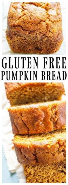 Gluten-Free Pumpkin Bread - a quick bread that is deliciously spiced with nutmeg, cinnamon, & cloves. This fall treat is a family favorite. Gluten-Free Pumpkin Bread GLUTEN-FREE PUMPKIN BREAD - A Dash of Sanity Gluten Free Deserts, Gluten Free Sweets, Foods With Gluten, Gluten Free Cooking, Dairy Free Recipes, Bread Recipes, Gluten Free Breads, Baking Recipes, Chicken Recipes