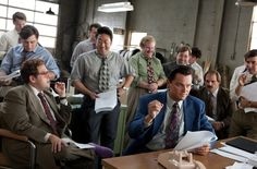 Still of Leonardo DiCaprio, Kenneth Choi, Ethan Suplee, Jonah Hill, Toby Welch and Henry Zebrowski in The Wolf of Wall Street (2013)
