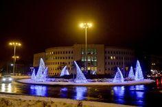Gdyńska iluminacja świąteczna przy Dworcu Gdynia Główna / Christmas lights in Gdynia, Gdynia Główna railway station | fot. Maciej Czarniak
