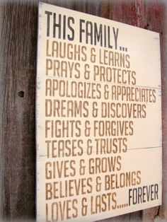 words to live by + family | Words To Live By: It's All In The Family Quotes