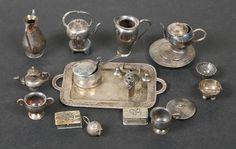 Vintage Sterling Silver Dollhouse Tea Service Etc