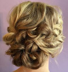 Messy Looped Updo