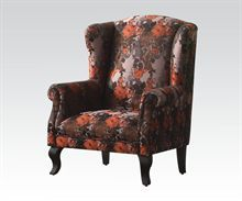 Black/Red Finish Accent Chair