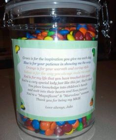 Teacher/care giver gift