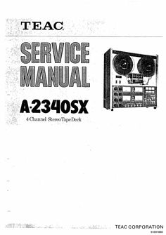 Sony TC-540 reel to reel tape recorder Service Manual in