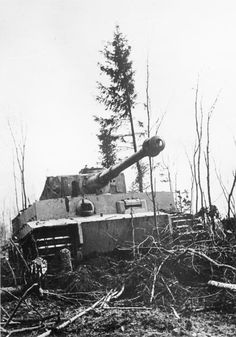 The German Panzer VI Tiger tank in Russia, the 45 ton monster required disproportionate resources to build and maintain.