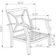 Better Homes and Garden Carter Hills Outdoor Conversation Set, Seats 5 Image 7 of 9