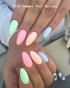27 easy to copy pastel rainbow nails (get .- 27 easy to copy pastel rainbow nails (get these colors) – nail art – - Pastel Nail Polish, Best Acrylic Nails, Acrylic Nail Designs, Nail Art Designs, Nails Design, Pastel Color Nails, Acrylic Nails For Summer Almond, Pastel Colors, Acrylic Nails Pastel