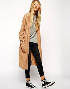 Perfect casual weekend look. I'm really liking the wrapped sneaker laces. Get the look: + ASOS Longline...