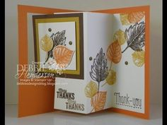 cardmaking video tutorial: Pop Out Swing Card . excellent instructions by Debbie Henderson . Stampin' Up! Pop Out Cards, Flip Cards, Fun Fold Cards, Cool Cards, Folded Cards, Stampin Up Karten, Stampin Up Cards, Cards Diy, Unique Cards