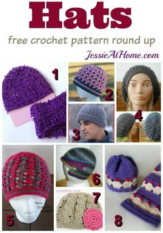 Hats free crochet pattern by Jessie At Home