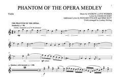 sheet music violin | Phantom of the Opera Medley Sheet Music