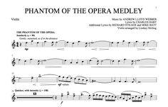 sheet music violin | Phantom of the Opera Medley Sheet Music