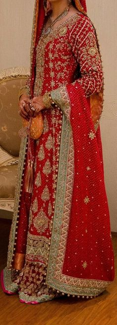Samia Ahmed Bridal Couture love the red and aqua